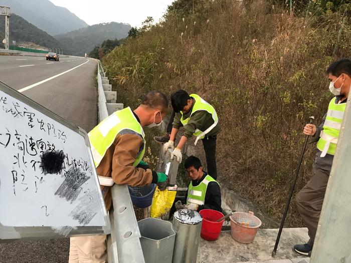 高速公路害虫防治施工现场2
